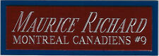 MAURICE RICHARD CANADIENS NAMEPLATE fo AUTOGRAPHED Signed PUCK Display CUBE CASE