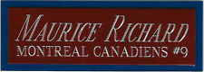 MAURICE RICHARD NAMEPLATE for AUTOGRAPHED Signed Puck Display cube