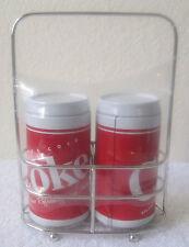 Coca-Cola Tin Metal Salt & Pepper Caddy set 2012