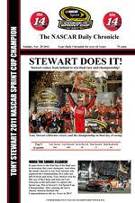 "STEWART WINS NASCAR SPRINT CUP CHAMPIONSHIP 2011 - HEADLINES POSTER - 12"" x 18"""