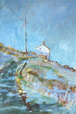 Cliff Path Staithes POSTCARD Steve Greaves Acrylic Painting Art Landscape Scene