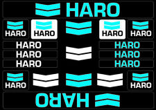 HARO Bicycle Bike Frame Decals Sticker Adhesive Graphic Vinyl Aufkleber Blue