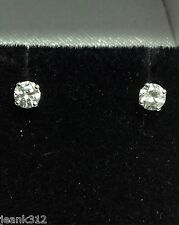 Diamond Stud Earrings 14K White Gold 0.40 Carats Round Cut 4 Prongs Anniversary