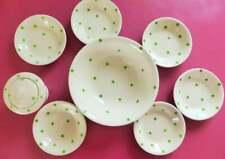 Cornishware T.G. Green & Co. Ltd Polka Dot Serving Set, 8 Pieces, Vintage 1930s