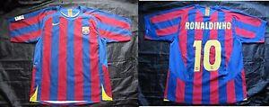 Ronaldinho #10 Barca 2005-2006 FC Barcelona HOME shirt jersey NIKE adult SIZE L