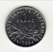 1 FRANC SEMEUSE 1988 COTE 30 EURO petit prix !! sortie rouleau époque