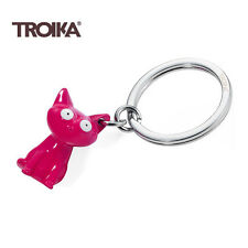 Troika Metal Keyring FELIX THE PINK CAT Keyring key chain ring cast alloy