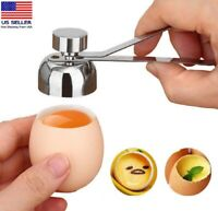 Stainless Steel Egg Shell Opener Topper Cutter Cracker Knocker Kitchen Home Tool