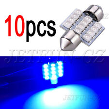 10 X Blue 31MM 12SMD Festoon Dome Map Interior LED Light Lamp DE3175 3022 3021