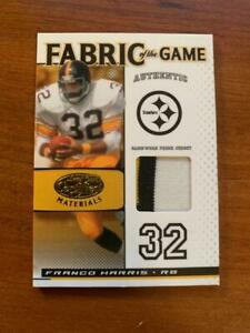 Franco Harris 2007 Leaf fabric of the Game 2 clr jersey patch #25/25 STEELERS