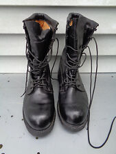 MEN'S BLACK LEATHER MILITARY COMBAT DUTY WORK BOOTS STEEL TOE VIBRAM SOLES 11 R