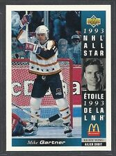 1993-94 Upper Deck McDonald's NHL All Stars - #15 - Mike Gartner - Rangers