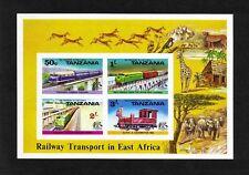 Tanzania 1976 Railway imperf miniature sheet (SG MS191a?) MNH