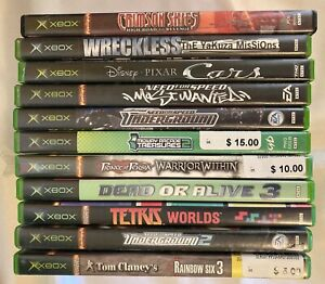 Original Xbox : Individual Games    Ref 768 *** You Pick the Title ***