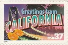 US 3700 Greetings from California 37c single MNH 2002