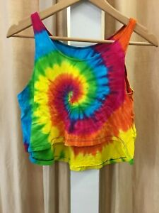 LOT OF 5.Cotton knit rainbow top.One fit.Summer.Cool.Brand new.Colourful.HIPPIE.