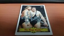 2012 WWE TOPPS HERITAGE MILLION DOLLAR MAN TED DIBIASE AUTOGRAPH W/ ANDRE GIANT