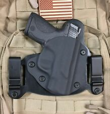 S&W M&P Shield 9/40 w/ Crimson Trace Laser LG489 IWB/OWB Hybrid Holster, Kydex