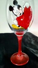 Hand Painted Mickie Mouse Huge Red Heart Large Wine Glass Uk