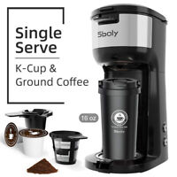 Sboly Coffee Machine Coffeemaker 16oz Travel Mug Ground Coffee Drip Tray Single