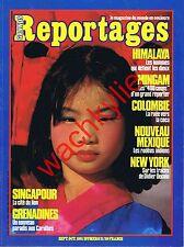 Grands reportages 21 1981 Cocaïne Singapour Himalaya Grenadines Gallup indiens