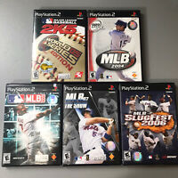 PS2 MLB Game Lot Of 5 2004 2006 07 The Show 2K5 Slugfest 06