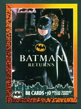 1992 Batman Returns Trading Cards Complete Set of 88 Cards & 10 Special Cards
