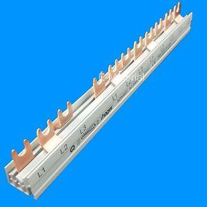 Hager KDN363F Sammelschiene für z.B. 1x Fi + 8Sicherungsautomaten - Gabelschiene