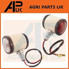 2X Fordson Dexta Nuffield 10/42 10/60 Tractor White Butler Side Maker Light Lamp
