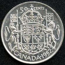 "1952 Canada Silver 50 Cent Piece ""Narrow Date"" (11.66 Grams .800 Silver)"
