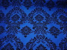 Blue Damask Upholstery Craft Fabrics Ebay