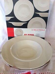2 Bowls BNIB WHITE ALESSI PORCELAIN  Soup  BOWLS LA BELLA TAVOLA SOTTSASS