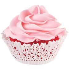 Wilton Cupcake Baking Cups Wraps RED WHITE DOILY Makes 24