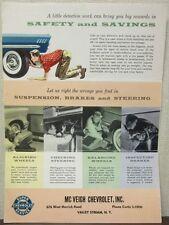 1958 McVeigh Chevrolet Service Advertising Mailer Brochure Valley Stream, NY
