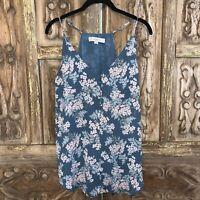 LOFT Ann Taylor Women's Size Small Top Sleeveless Floral Blouse V-Neck