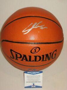 LAURI MARKKANEN (Chicago Bulls) Signed Spalding BASKETBALL w/ Beckett COA