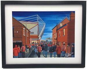 Crewe Alexandra FC Gresty Road Stadium High Quality Framed Art Print. Approx A4.