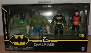 Creature Chaos DC Swamp Showdown Batman Robin Killer Croc Spin Master 1st Ed.