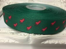 1 Metre Horse Print Polo Grosgrain Ribbon Designer 22mm Cakes Bow Dummy Green
