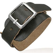 Bracelet homme large Zense ZB0075 mode en cuir ceinture marron et ajustable