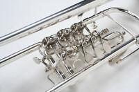 Konzerttrompete, silber, mit Trigger, versilbert