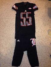 Louisville Cardinals #55 Keith Kelsey Blackout Football Game Uniform 9/17/15
