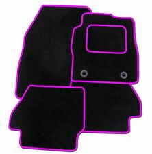 RENAULT CAPTUR 2013 ONWARDS TAILORED CAR FLOOR MATS- BLACK WITH PINK TRIM