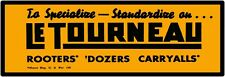 """Le Tourneau Carryalls, Dozers Marquee Style New Metal Sign 6""""x18""""  Free Shipping"""