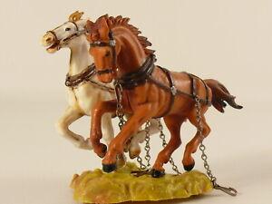 Elastolin 7 cm - Pferde für Postkutsche