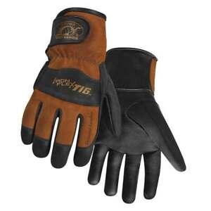 Steiner 0262 Pro-Series IronFlex Kidskin Welding Gloves Poly Lined Back LRG