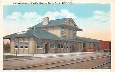A63/ Santa Rosa California Ca Postcard c1910 Southern Pacific Railroad Depot