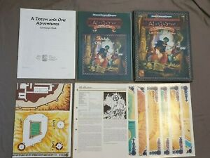 AD&D Al Qadim A Dozen and One Adventures, Boxed, VGC, Complete 9432