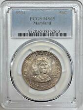 1934 Maryland Commemorative Half Dollar PCGS MS65 Silver Registry Coin