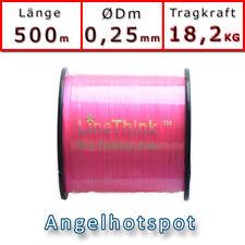 500m (0,044€/m) Angelschnur Pink Rundgeflochten 0,25mm 18,2KG Angelhotspot X